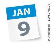 january 9   calendar icon  ... | Shutterstock .eps vector #1196270179