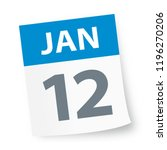 january 12   calendar icon  ...   Shutterstock .eps vector #1196270206