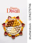 happy diwali greeting card made ... | Shutterstock . vector #1196270746