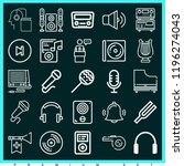 set of 25 music outline icons... | Shutterstock . vector #1196274043