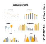 business data visualisation... | Shutterstock .eps vector #1196274613