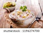 swabian sausage salad  ... | Shutterstock . vector #1196274700