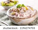 swabian sausage salad  ... | Shutterstock . vector #1196274703