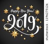 2019 hand written lettering... | Shutterstock .eps vector #1196275126