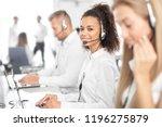 call center worker accompanied... | Shutterstock . vector #1196275879