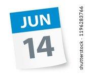june 14   calendar icon  ... | Shutterstock .eps vector #1196283766