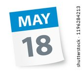 may 18   calendar icon   vector ... | Shutterstock .eps vector #1196284213