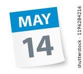 may 14   calendar icon   vector ... | Shutterstock .eps vector #1196284216