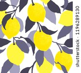 seamless citrus pattern.hand...   Shutterstock .eps vector #1196289130