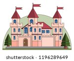 castle. isolated on white... | Shutterstock . vector #1196289649