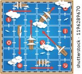 board game on the sea theme.... | Shutterstock . vector #1196289670