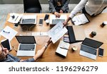 group of people working on... | Shutterstock . vector #1196296279