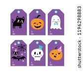 halloween holiday cute gift... | Shutterstock .eps vector #1196298883