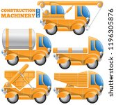 construction machinery.... | Shutterstock .eps vector #1196305876
