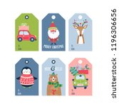 christmas holiday cute gift... | Shutterstock .eps vector #1196306656