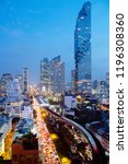 bangkok city building tower... | Shutterstock . vector #1196308360