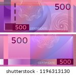 voucher template banknote 500... | Shutterstock .eps vector #1196313130