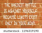 positive quote about strength... | Shutterstock . vector #1196319190