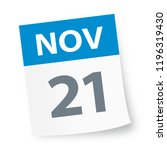 november 21   calendar icon  ... | Shutterstock .eps vector #1196319430