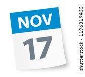 november 17   calendar icon  ... | Shutterstock .eps vector #1196319433