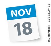 november 18   calendar icon  ... | Shutterstock .eps vector #1196319436