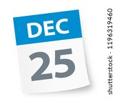 december 25   calendar icon  ... | Shutterstock .eps vector #1196319460