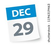 december 29   calendar icon  ... | Shutterstock .eps vector #1196319463