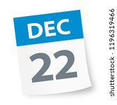 december 22   calendar icon  ... | Shutterstock .eps vector #1196319466