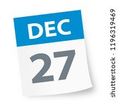 december 27   calendar icon  ... | Shutterstock .eps vector #1196319469