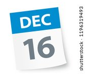 december 16   calendar icon  ... | Shutterstock .eps vector #1196319493