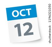 october 12   calendar icon  ... | Shutterstock .eps vector #1196321050