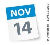 november 14   calendar icon  ...   Shutterstock .eps vector #1196321083