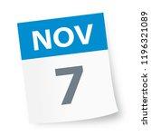 november 7   calendar icon  ... | Shutterstock .eps vector #1196321089