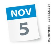 november 5   calendar icon  ... | Shutterstock .eps vector #1196321119