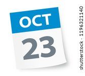 october 23   calendar icon  ... | Shutterstock .eps vector #1196321140