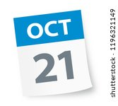 october 21   calendar icon  ... | Shutterstock .eps vector #1196321149