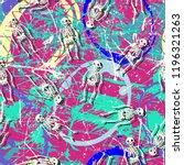 skull funky seamless rough... | Shutterstock .eps vector #1196321263