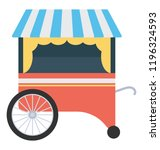 a food cart for vendor food   | Shutterstock .eps vector #1196324593