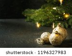 set of craft paper christmas... | Shutterstock . vector #1196327983