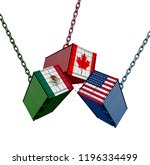 united states mexico canada... | Shutterstock . vector #1196334499