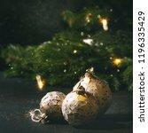 set of craft paper christmas... | Shutterstock . vector #1196335429