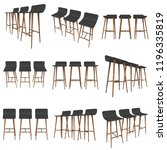 bar stool furniture 3d render... | Shutterstock . vector #1196335819