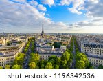 beautiful view of paris from... | Shutterstock . vector #1196342536