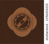 bandage plaster icon inside... | Shutterstock .eps vector #1196343223