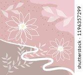 pibk flower scarf pattern design | Shutterstock .eps vector #1196357299