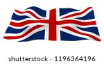 waving flag of the great... | Shutterstock . vector #1196364196