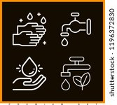 set of 4 water outline icons... | Shutterstock . vector #1196372830