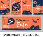 halloween sale  party...   Shutterstock .eps vector #1196373553