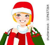 beautiful blonde woman happy...   Shutterstock .eps vector #119637364