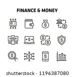 finance and money thin line... | Shutterstock .eps vector #1196387080